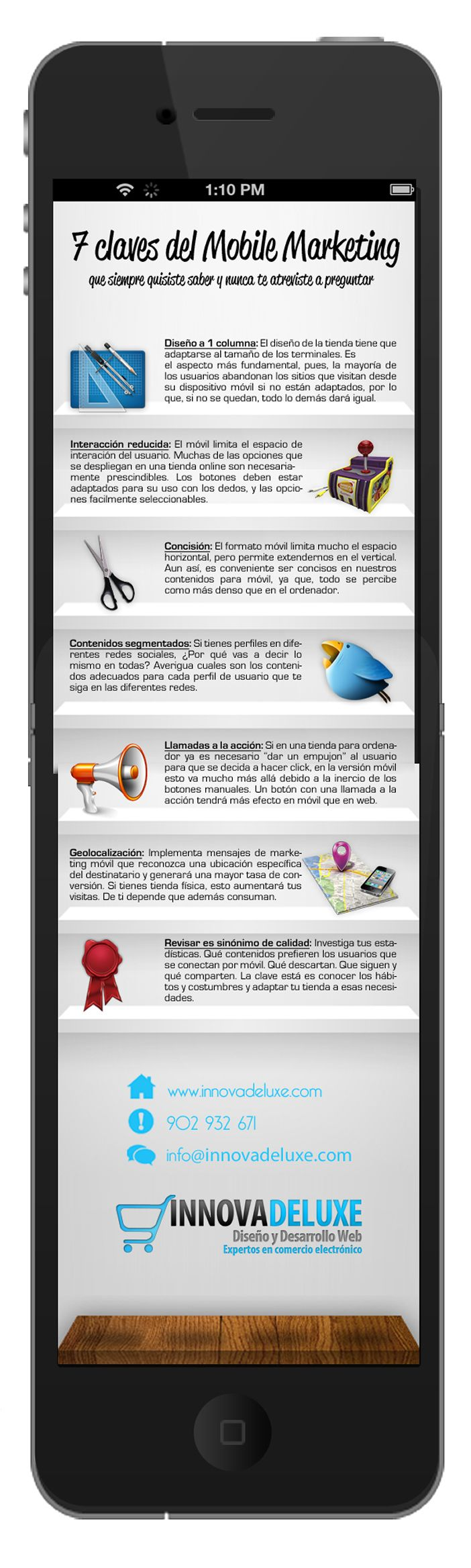 7 claves del marketing móvil #infografia #infographic #marketing