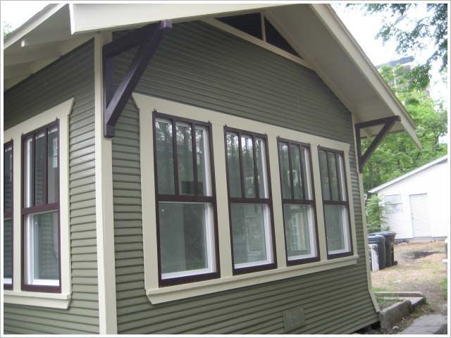 Best 25 green exterior paints ideas on pinterest green - Exterior trim painting tips image ...