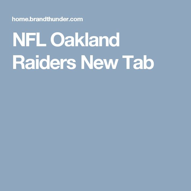 NFL Oakland Raiders New Tab