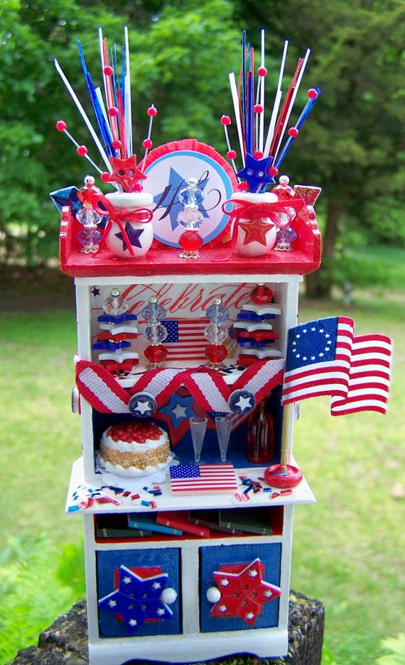 Dollhouse Miniature Americana Independence Day 4th of July ...