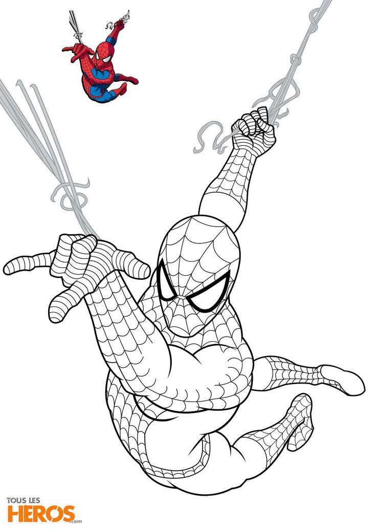 coloriage_spiderman3.jpg 992×1,403 pixels | Spiderman ...