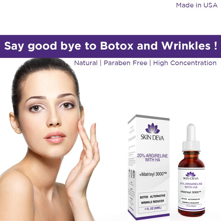 Botox alternative and wrinkles remover we use high concentration of argireline so its effect quick and safer so no more botox ... say bye bye to botox.