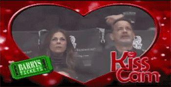 Funny, Sweet Kiss Cam Moments: David and Harper Beckham, Tom Hanks: Smitten.com