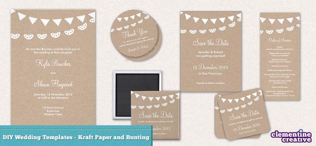 DIY Wedding Stationery Templates