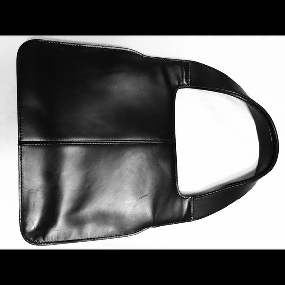"Black leather Banana Republic handbag Banana Republic black leather purse. 7x9"" excluding handles. Banana Republic Bags"