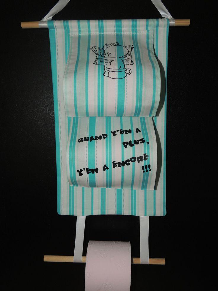support papier toilette avec 2 reserves couleur bleuvert et blanc
