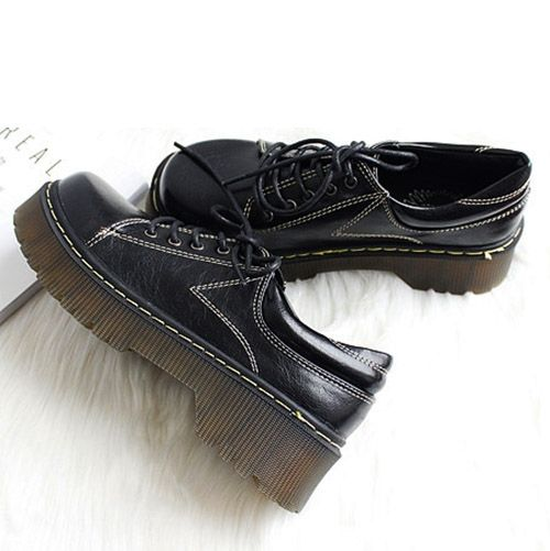 42.80$  Buy here - http://aiw1l.worlditems.win/all/product.php?id=32791599724 - Japan street style fashion round toe women thick sole platform oxford shoes women brown tassel loafer shoes 170120