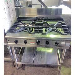 中古 業務用 3口ガステーブル FGTN099021 幅900×奥行900×高さ850 都市ガス フジマック 厨房機器 厨房用品 送料別途見積