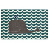 Found it at Wayfair - Aurora Oh Whale Teal Area Rug