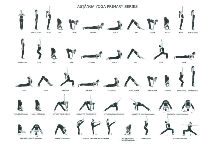 Аштанга виньяса йога — первая серия асан