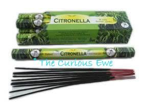 Citronella Outdoor Incense - invaluable for camping, BBQs, or just chilling in the garden.  Keeps the biting insects away #CuriousEwe #Mosquitos #Midges #Repellent