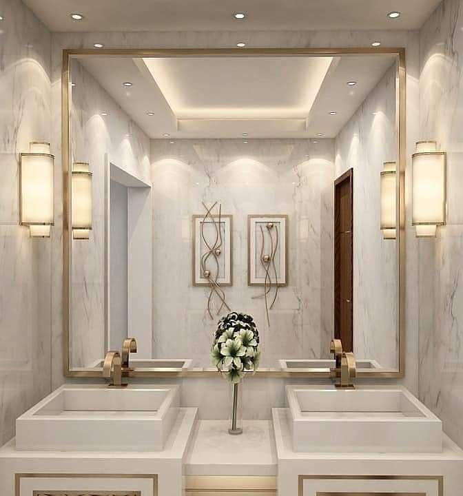تصميم داخلي مصمم ديكور On Instagram متخصصون بتصميم وتنفيذ الديكورات جوال 00966547411783 تصميم تنفيذ إشراف مهندسون Bathroom Home Alcove Bathtub