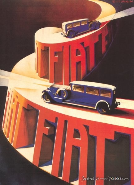 Vintage #Fiat Ad