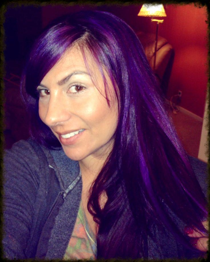 pravana violet hair nails and henna pinterest