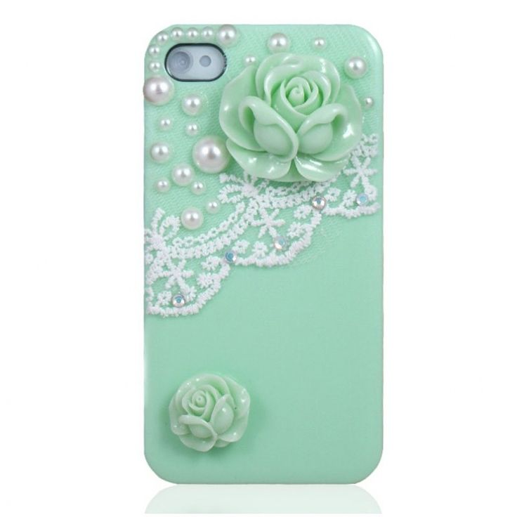 $19.95 Pearl & Lace Flower IPhone 4/4S Case