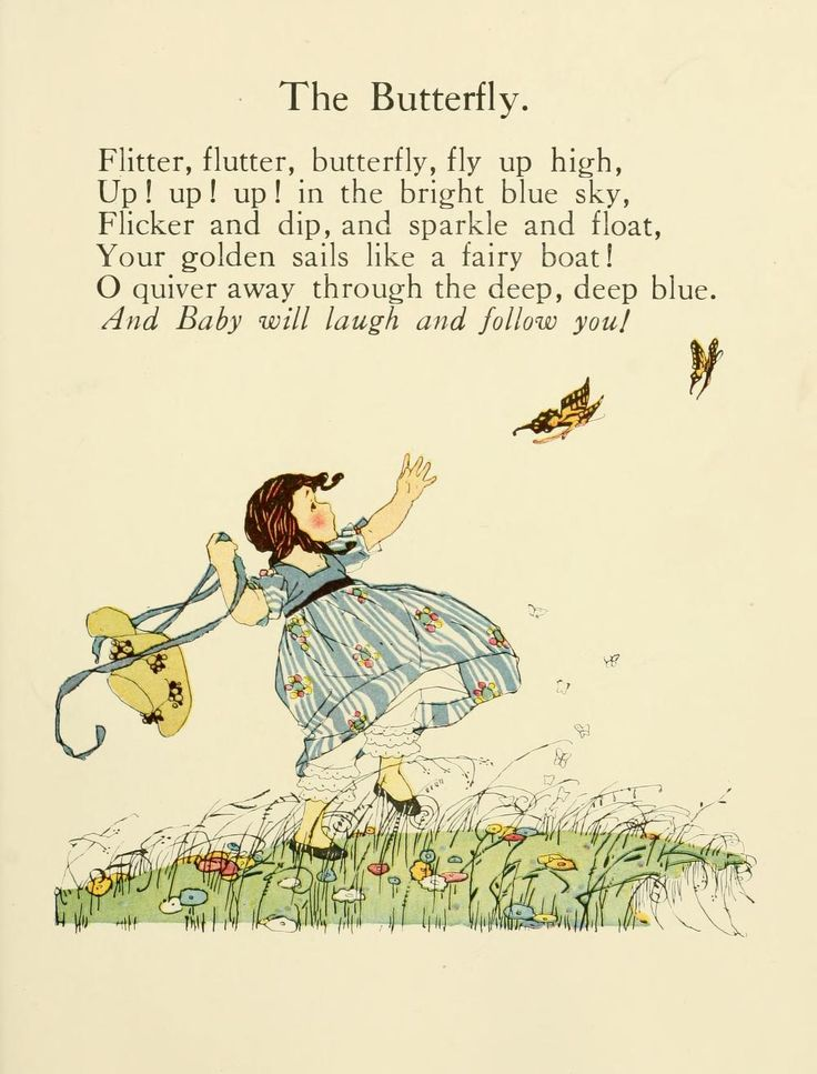 The Butterfly - Sunny rhymes for happy children. : Rhymes