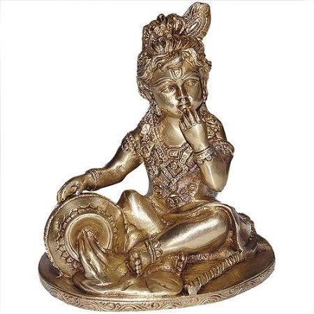 Amazon.com: Hindu Gods Krishna Brass Statue Religious Sculpture: Home & Kitchen