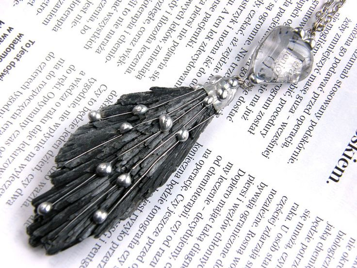 Chains – Pendant with chain: angel wing – a unique product by Patrycja-Baran on DaWanda
