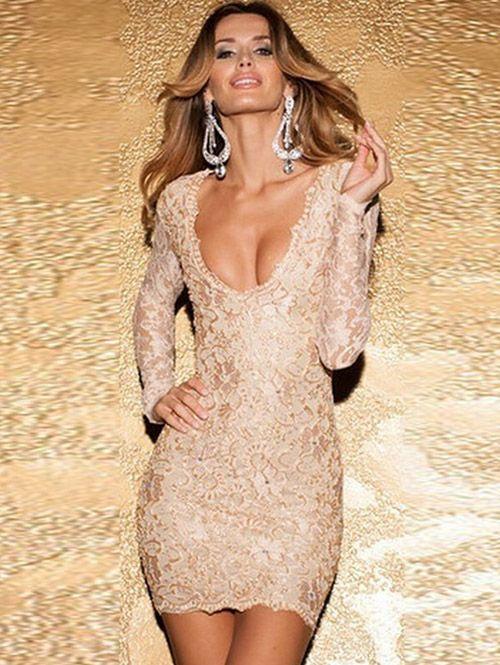 Sexy mini dress low-cut package buttock club dress YR-LC21706