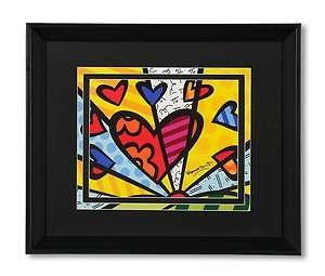 Heart Framed Print Romero Britto