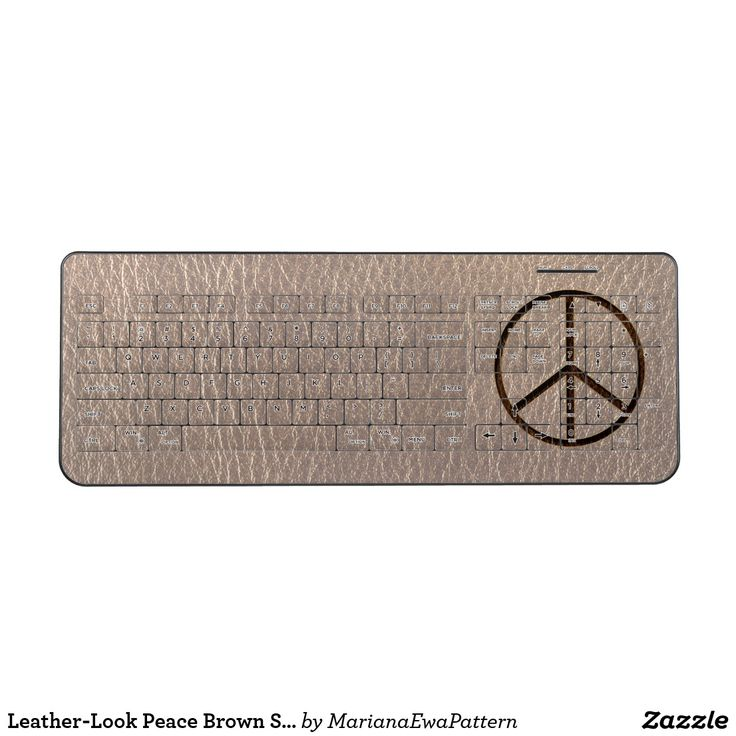 Leather-Look Peace Brown Soft