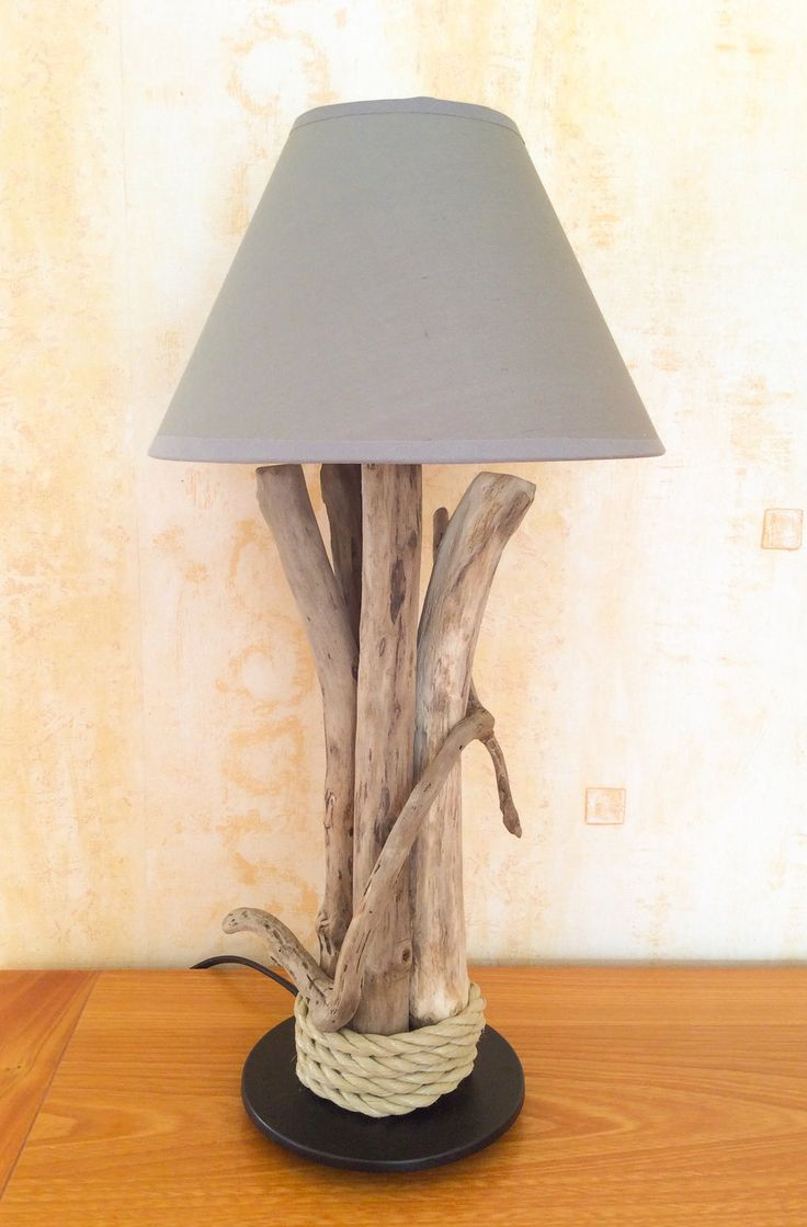 72 best Lampes bois flotté images on Pinterest