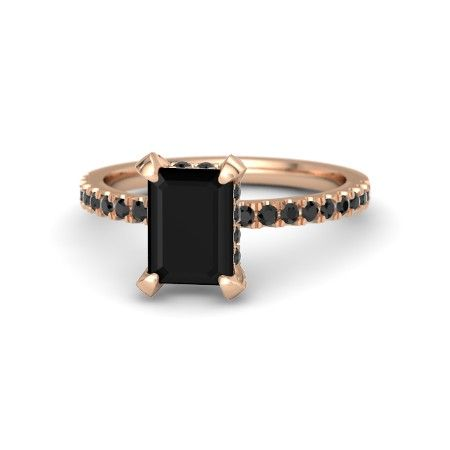 20 Unique Engagement Rings - Gemvara black onyx engagement ring in rose gold