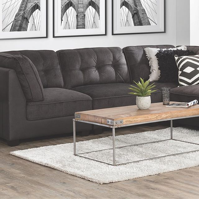 Our versatile Malibu corner modular in plush coal or jet rhino paired with our Naomi coffee table is a stylish combo for your lounge room. This month receive a BONUS $100 Cash Card with your purchase 👌🏻. #thatsbetta #golocal #shoplocal #furniture #home #interiors #style #lounge #interiorstyle #localbusiness #homedecor #decor