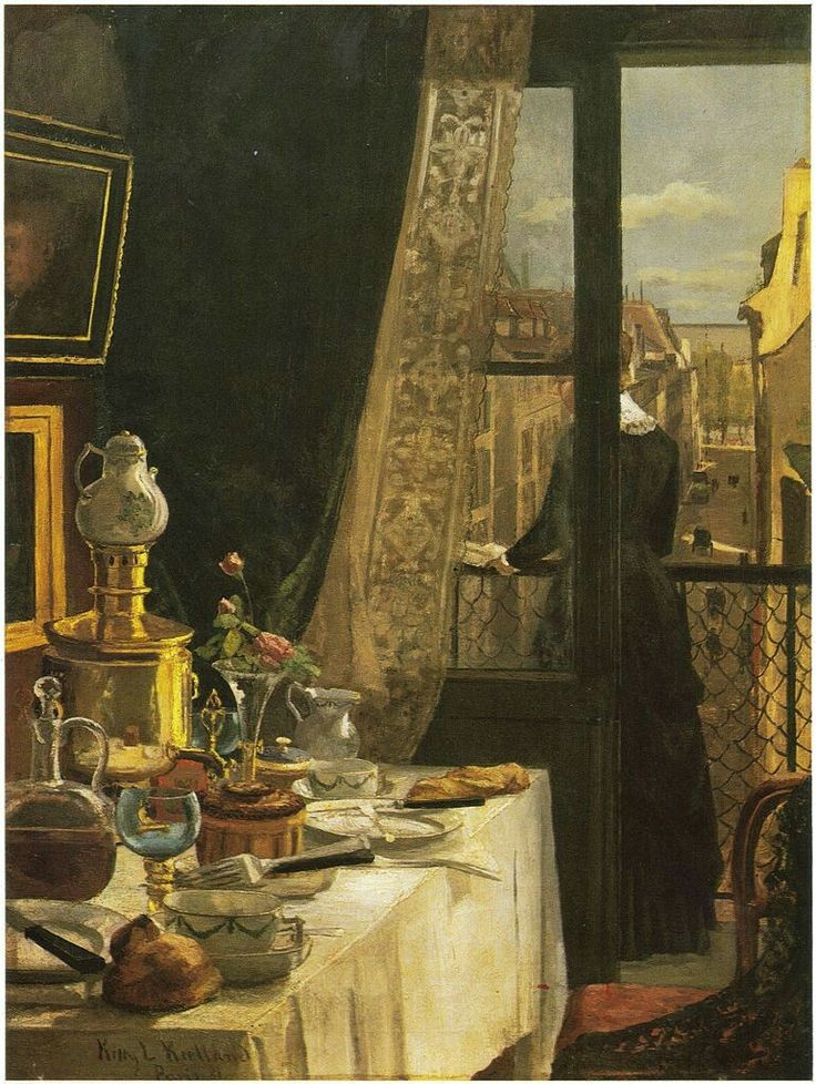 Kitty Kielland,Paris interior,1881