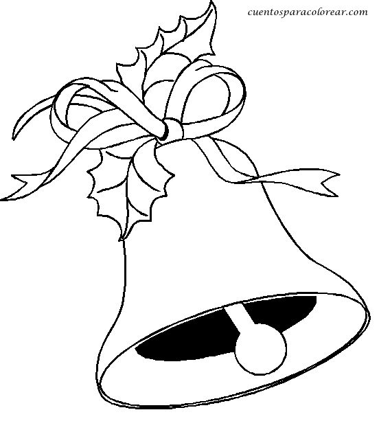 patrones para pintar de navidad | dibujos para colorear y pintar de campanas y campanillas navidad