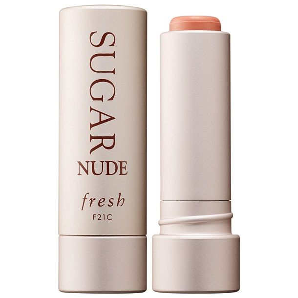 Heads up Fresh Sugar Lip Treatment fans a new nude color is in the works for Spring 2015! Fresh Nude Tinted Sugar Lip Treatment ($22.50) is a sheer shade o