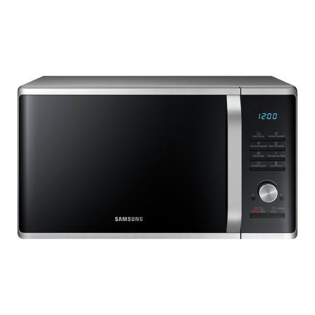 Buy Samsung 1000w 28l Standard Microwave Ms28j5255us Silver Microwaves In 2020 Microwave Oven Microwave Countertop Microwave