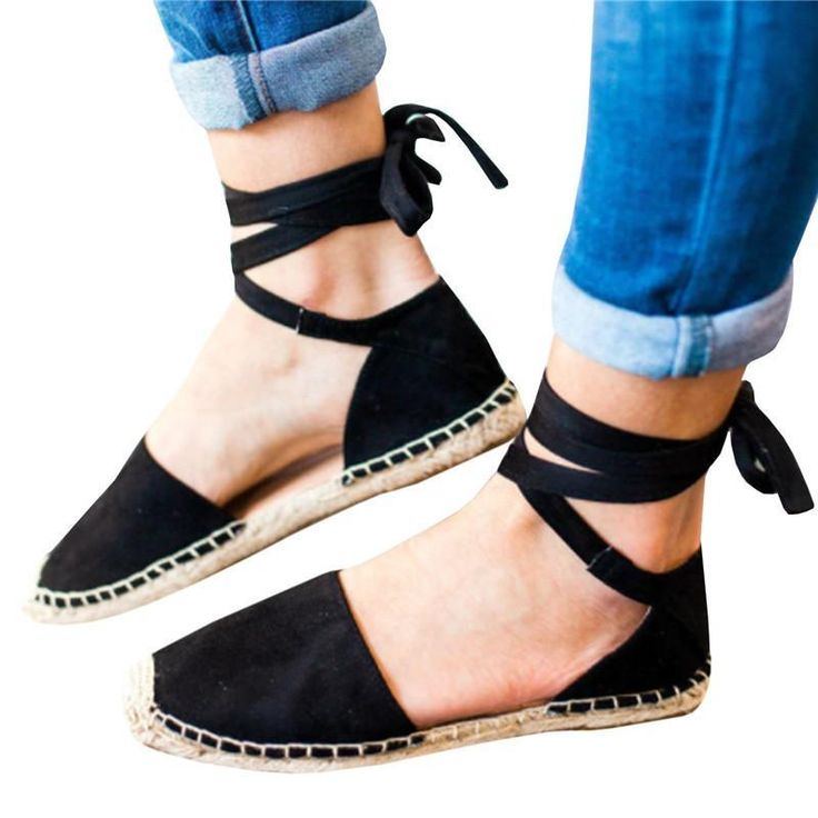 Ankle Wrap Espadrille Flat Sandals