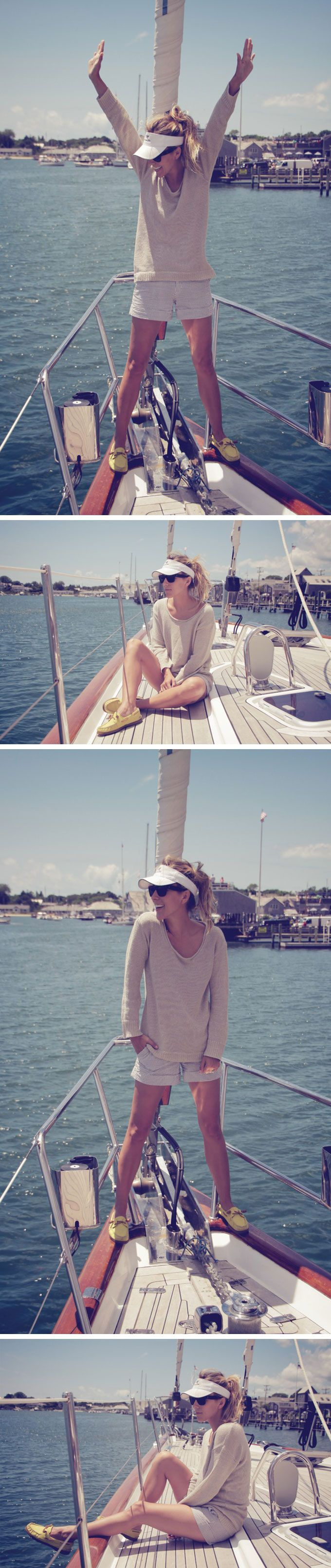 both the clothes (shoes) and the boat please :)