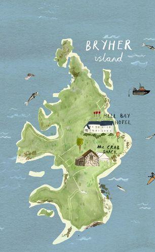 Map of Bryher by Illustrator Livi Gosling