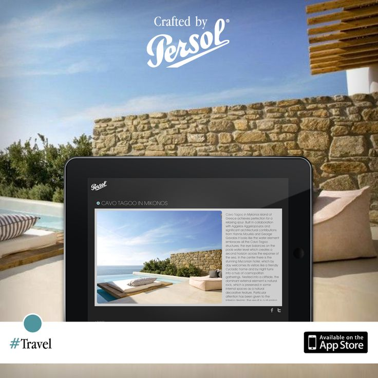 Discover craftsmanship in travel on our new iPad app, CraftedxPersol. Free download @ http://pers.sl/Q4wMuS