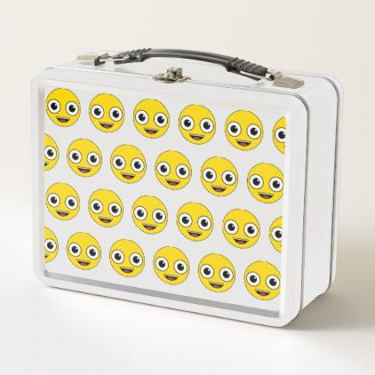 Super Happy Face Metal Lunch Box - home gifts ideas decor special unique custom individual customized individualized