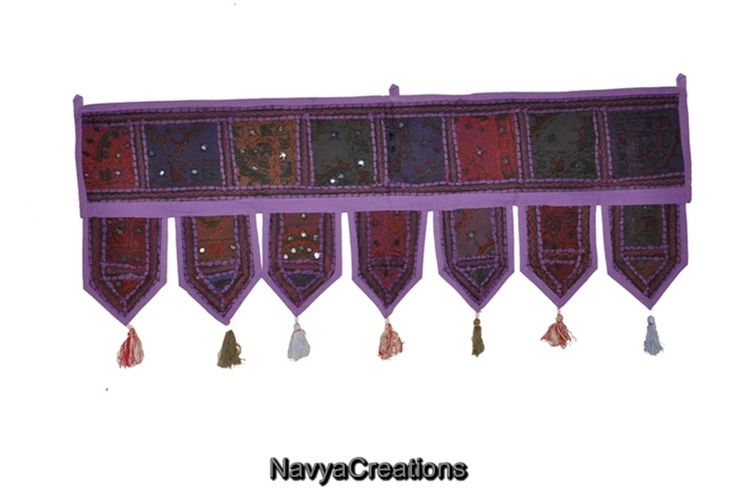 Home Decor Vintage Indian Window Valance Topper Embroidered Door Hanging Toran . A fancy door toran that attracts & welcomes! This beautiful handmade toran is one of the finest Indian wall hangings that you can now online order at very reasonable price. Color combination is just perfect to attract any eye plus at