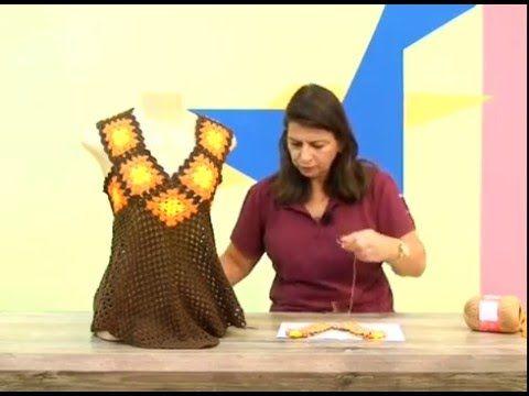 blusa flor de lis em croche com camila fashion /Cristina Amaduro - YouTube