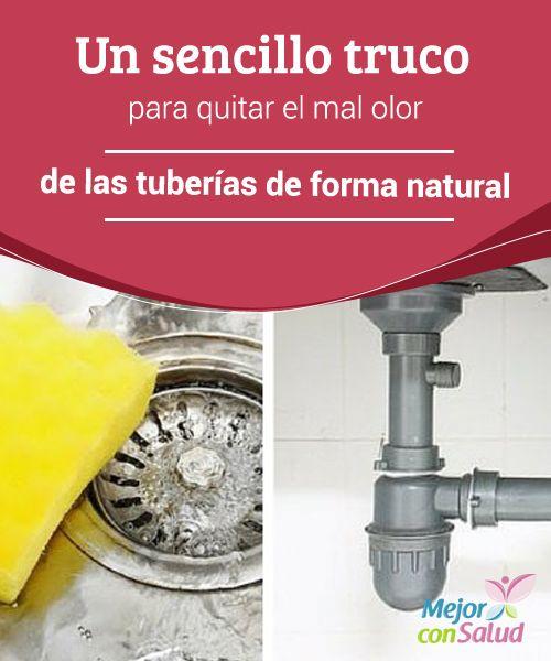 Un sencillo truco para quitar el mal olor de las tuberías de forma natural  Uno de los problemas más habituales en el hogar es ese olor desagradable que proviene de las tuberías del baño o la cocina.