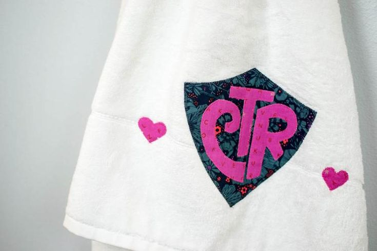 Free Sewing Pattern: CTR Shield Applique Design (for Baptism Towels)