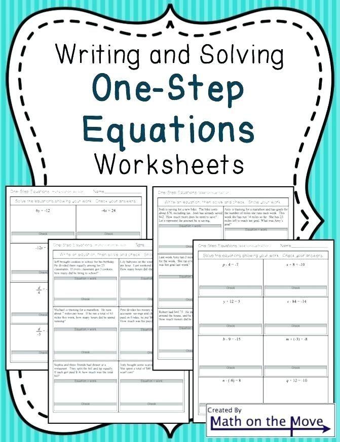 28 Solving One Step Equations Worksheet Pdf Solving E Step