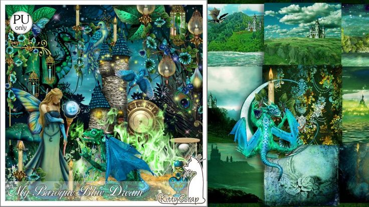 kit my baroque blue dream by kittyscrap