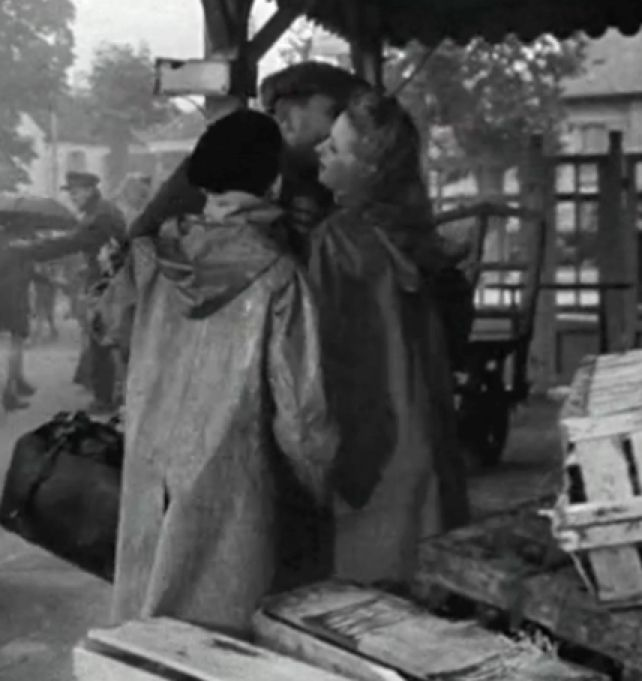 Vintage Teens Rubber Rainwear France 1943 Single