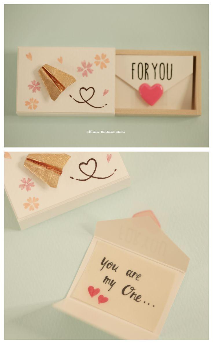 Miniaturen Streichholzschachtel Karte, Valentinstag Geschenk, Aufmunterung Box, lustige Liebeskarte, Geburtstag, …   – Bastelideen