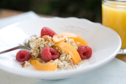 This affordable, healthy breakfast provides protein, whole grains and fresh fruit to help you start your morning right. Simply mix the ingredients together and refrigerate overnight. Enjoy it cold or warm the next morning.