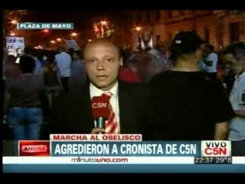 Repudiable agresión a un periodista del canal C5N
