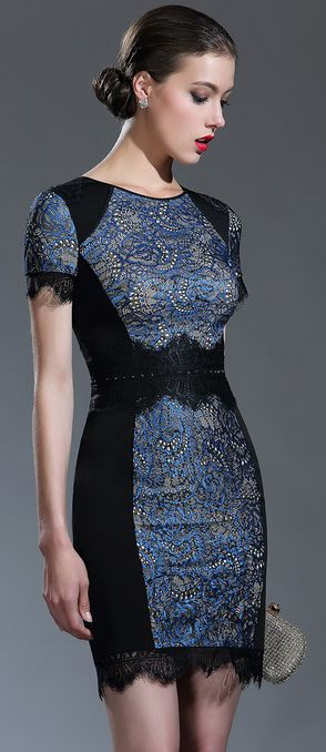 eDressit Black Beaded Lace Mother of the Bride/Groom Dress