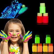 Nueva 12 Colores de Neón Fluorescente Pintura Corporal Crecen En La Oscuridad Pintura de la cara Luminosa de Acrílico Pinturas de Arte para la Fiesta de Halloween Componen(China (Mainland))