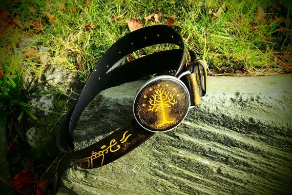 lord of the rings one ring leather belt by PocillatorWorkshop